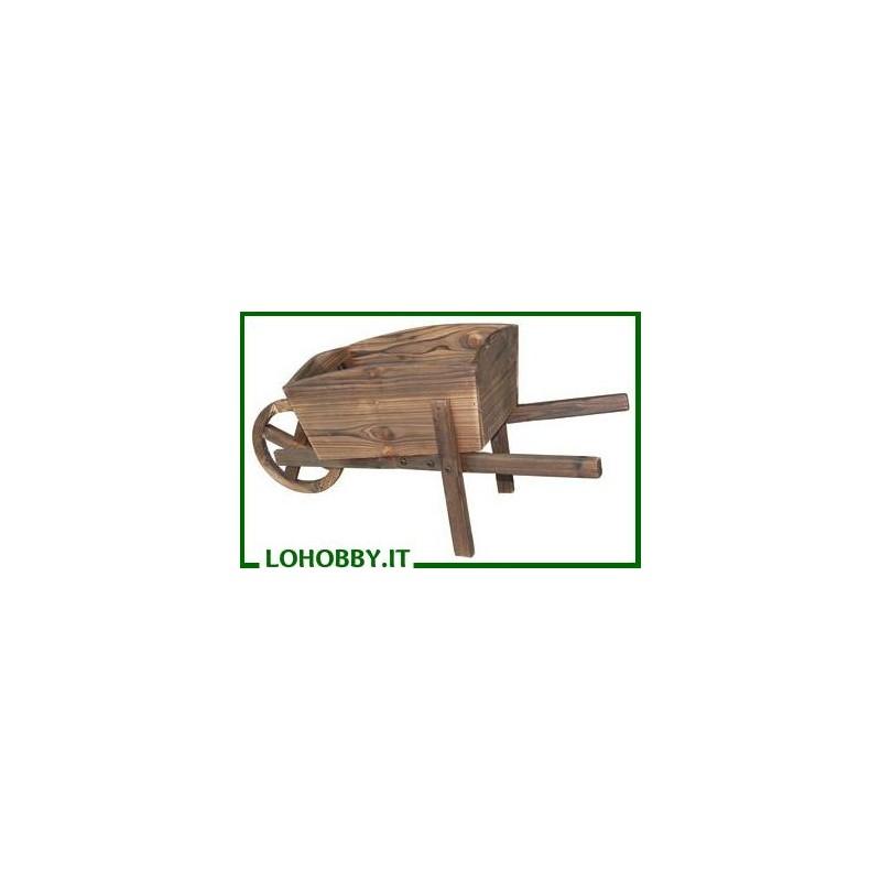 Fioriere carriola in legno
